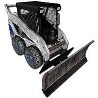 Lizard Skid loader with shield